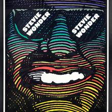 Stevie Wonder and Hugh Masekela at Lincoln Center Philharmonic Hall concert poster