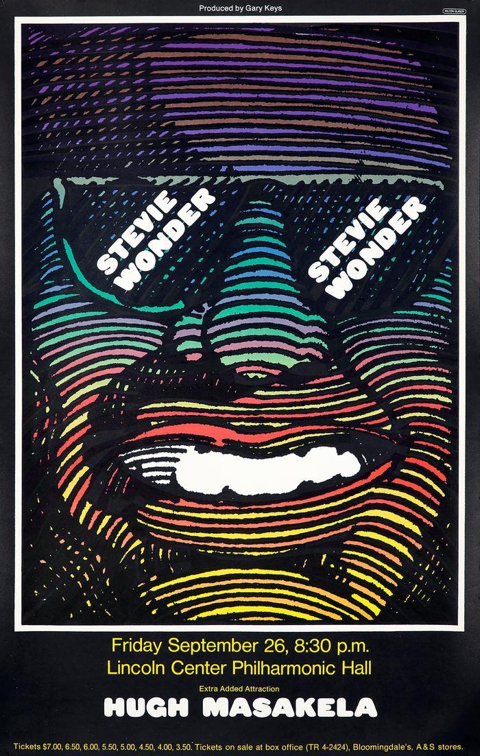 Stevie Wonder and Hugh Masekela at Lincoln Center Philharmonic Hall concert poster 1