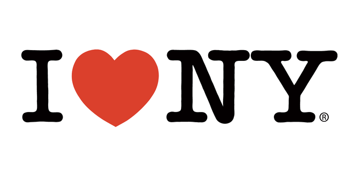 The official logo as used in 2021 on the iloveny.com website by the New York Department of Economic Development.