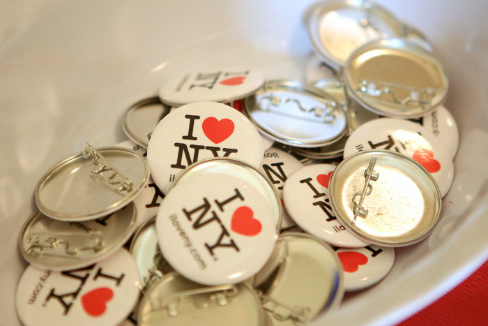 Pinback buttons offered by the U.S. Embassy in Toronto, Canada, 2015.