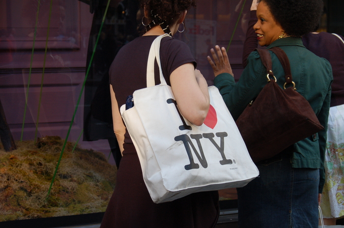 Shopping bag spotted in Manhattan, 2005.