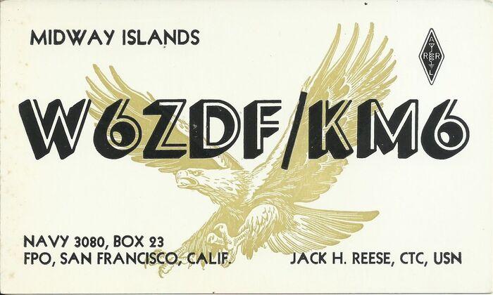 Jack Reese QSL card 1