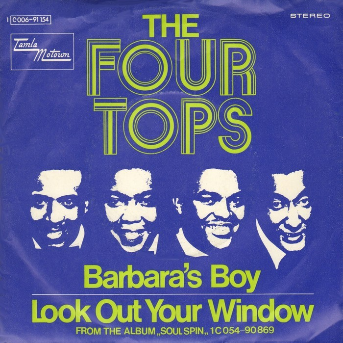 """Barbara's Boy"" / ""Look Out Your Window"", March 1970. Titles in ."