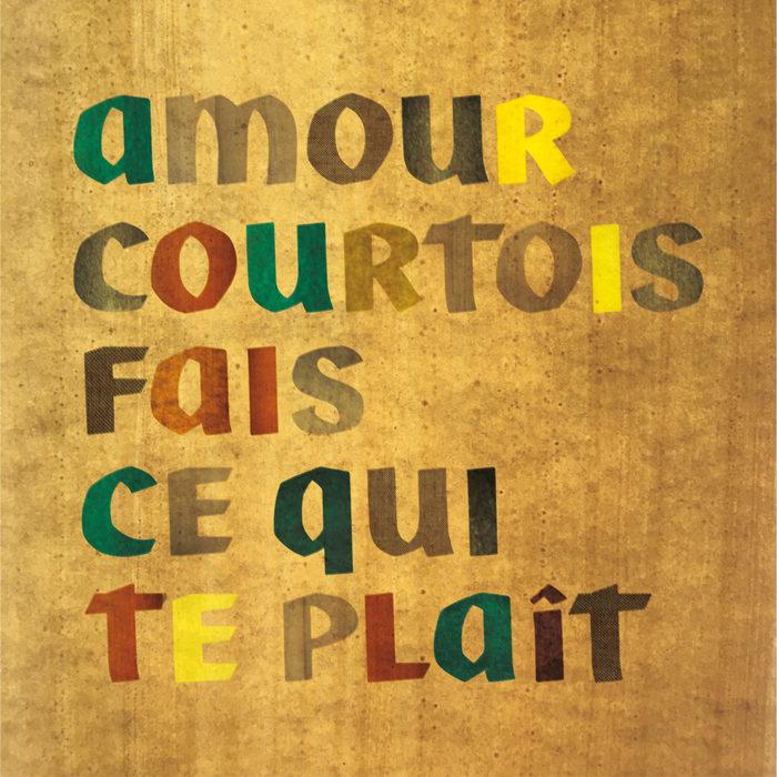 """Amour Courtois – """"Fais ce qui te plaît"""" single cover"""