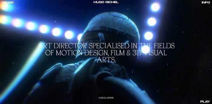 Hugo Richel portfolio website 1