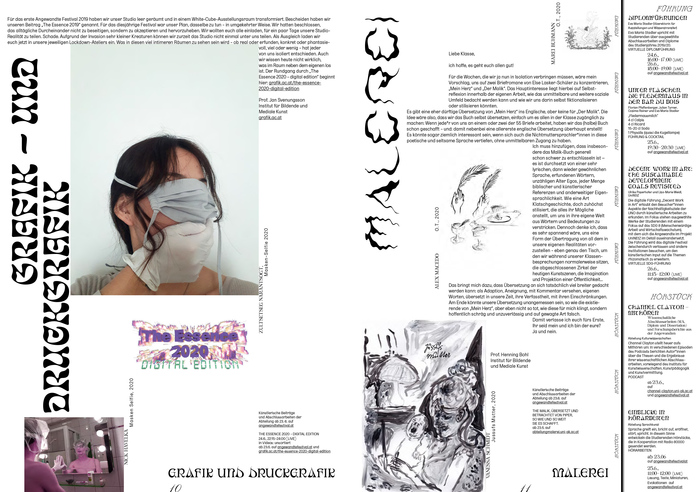 Booklet spread with  and , a distorted variant of Wagemut.