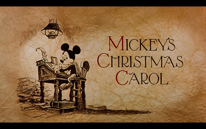 Mickey's Christmas Carol (1983) opening titles 2