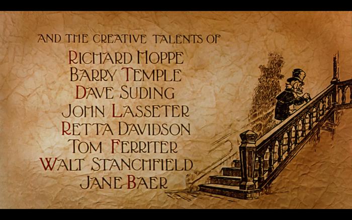 Mickey's Christmas Carol (1983) opening titles 7