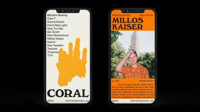 Coral Agency identity and website 3