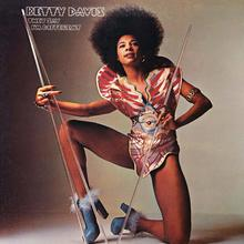 Betty Davis – <cite>They Say I'm Different</cite> album art, Just Sunshine Records logo