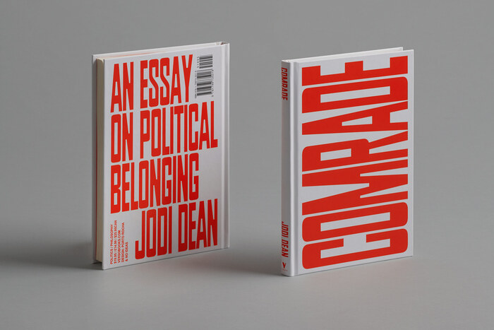 The small rotated text on the back cover is in  Bold, Verso Book's standard typeface.