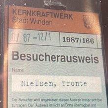 <span>Besucherausweis Kernkraftwerk Stadt Winden 1987</span>