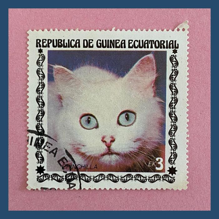 Cat stamps from Equatorial Guinea 2