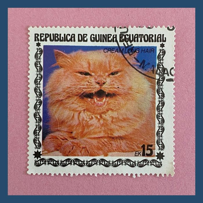Cat stamps from Equatorial Guinea 3