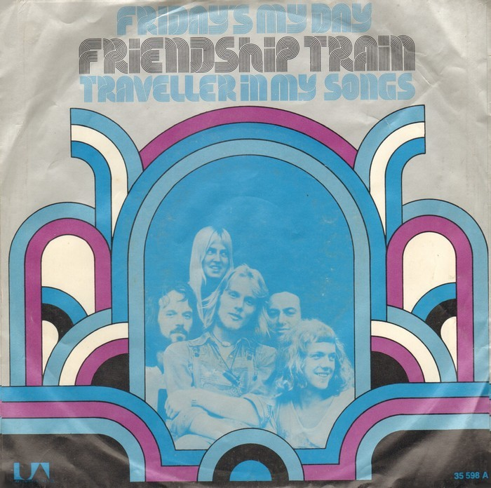 """Friendship Train – """"Friday's My Day"""" / """"(Always Been A) Traveller In My Songs"""" German single sleeve"""