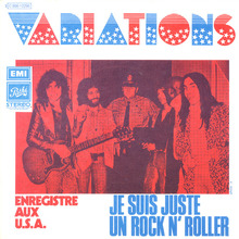 "Les Variations – ""Je Suis Juste Un Rock N' Roller"" / ""The Jam Factory"" French single sleeve"