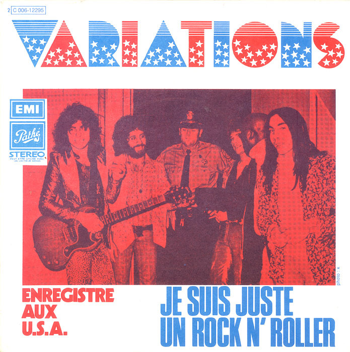 """Les Variations – """"Je Suis Juste Un Rock N' Roller"""" / """"The Jam Factory"""" French single sleeve"""