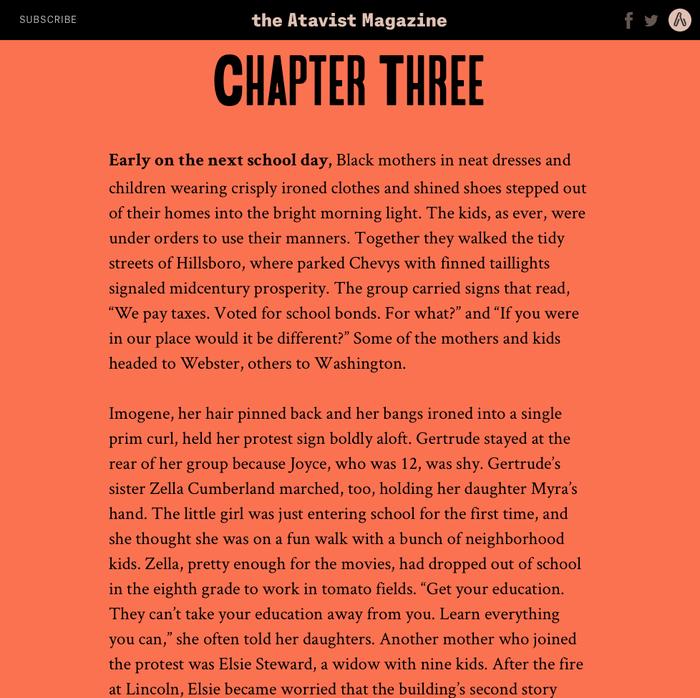 "The Atavist Magazine – ""The Long Walk"" 3"