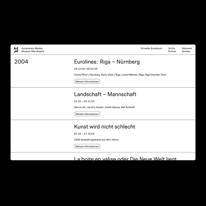 Kunstverein Weiden website 3