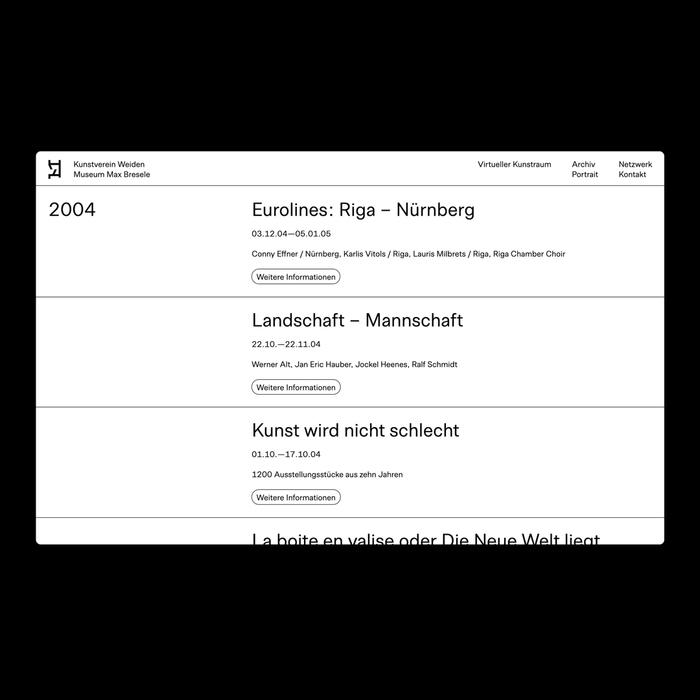 Kunstverein Weiden website 3