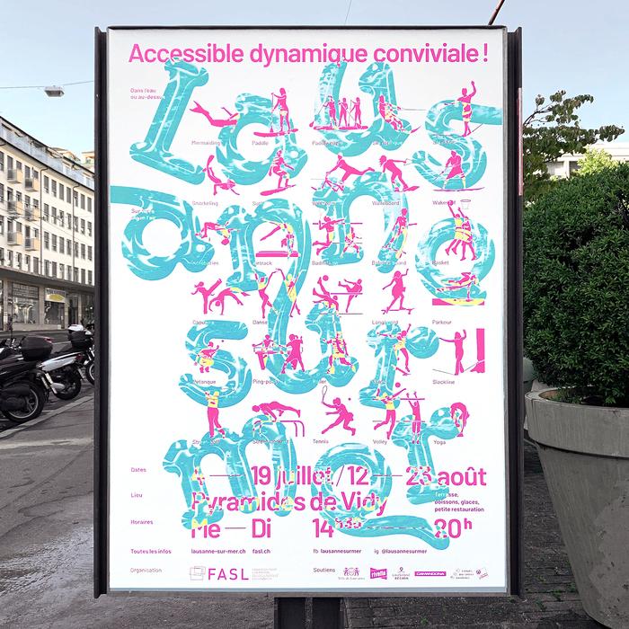 Lausanne sur Mer 2020 campaign posters 2