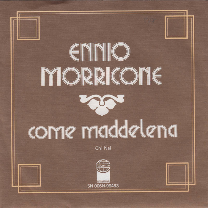 "Ennio Morricone – ""Come Maddalena"" / ""Chi Mai"" Dutch single sleeve"