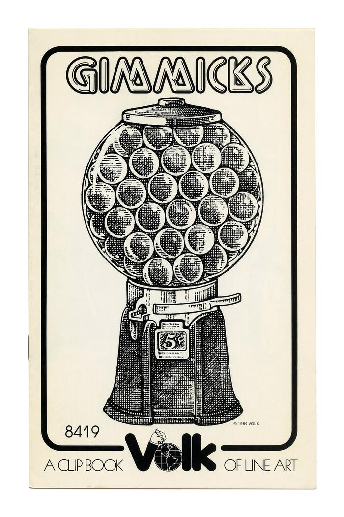 """Gimmicks"" (No. 8419) ft.  (Letraset, 1976)."
