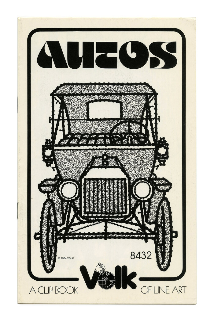 """Autos"" (No. 8432) ft. a vintage car contrasted with Othmar Motter's futuristic  (1974)."