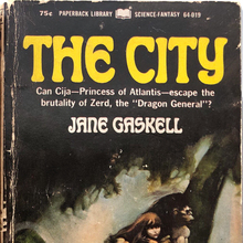 <cite>The City</cite> by Jane Gaskell (Paperback Library)