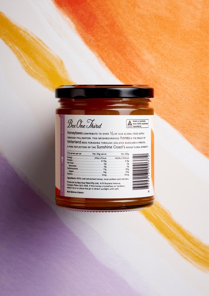 250g neighbourhood honey jar detail