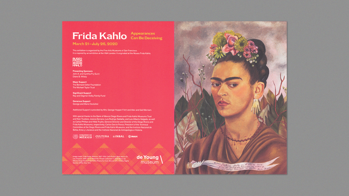 Frida Kahlo: Appearances Can Be Deceiving exhibition graphics 4
