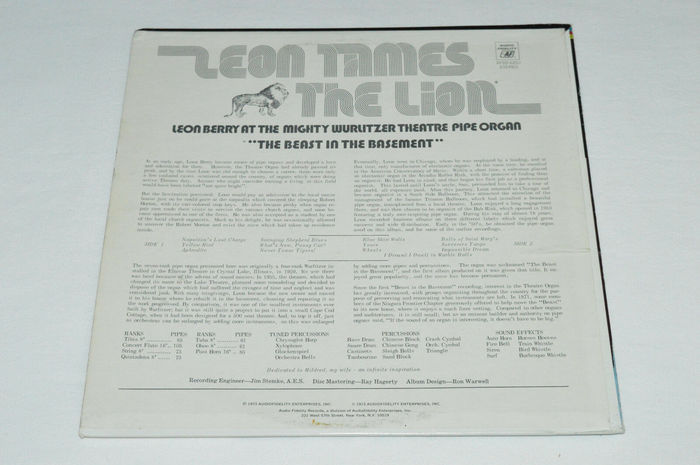 Leon Berry – Leon Tames the Lion album art 2