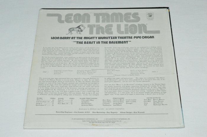 Leon Berry – Leon Tames the Lion album art 2