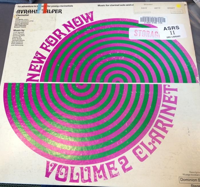 Avrahm Galper – New For Now. Volume 2. Clarinet album art 1