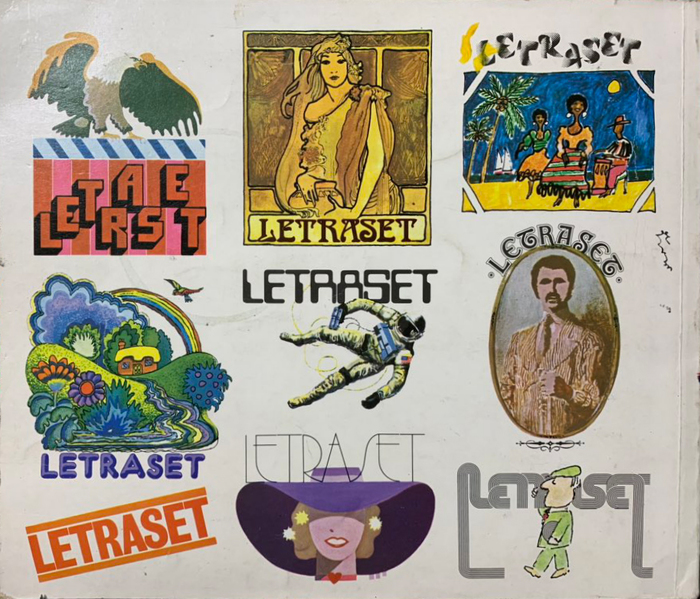 Letraset catalog cover (UK, 1975) 2
