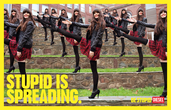"""""""Be Stupid"""" campaign by Diesel 5"""