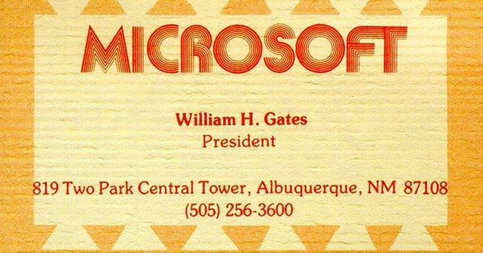 Business car for William H. Gates, President.