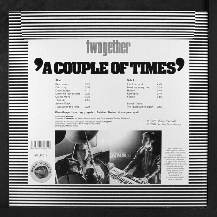Twogether – A couple of Times album art 2