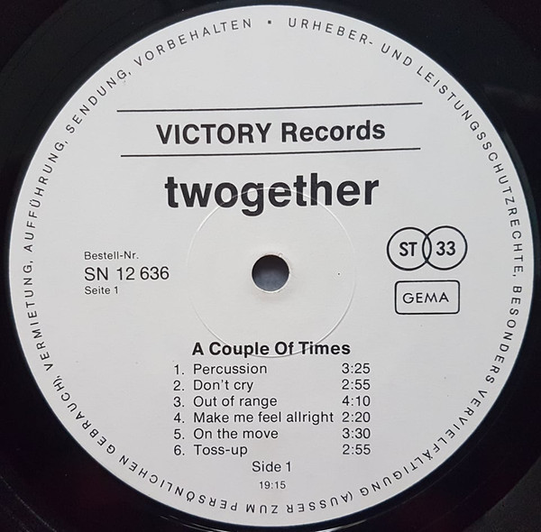 Twogether – A couple of Times album art 3