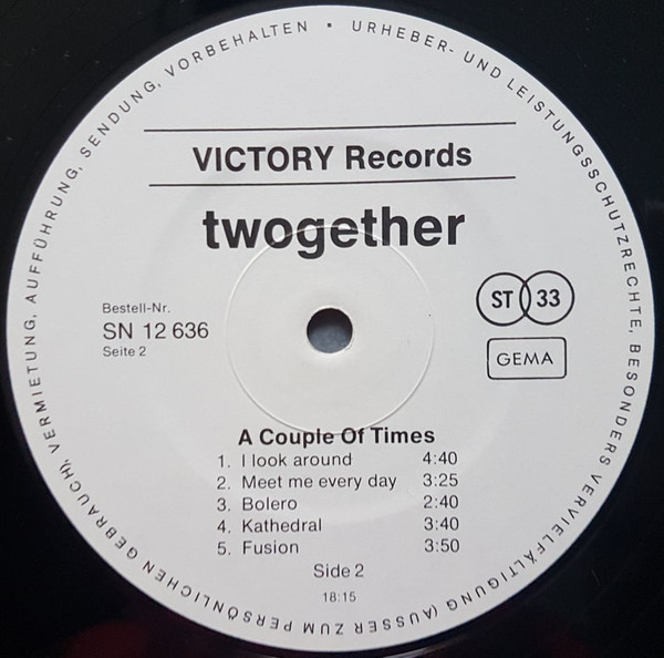 Twogether – A couple of Times album art 4
