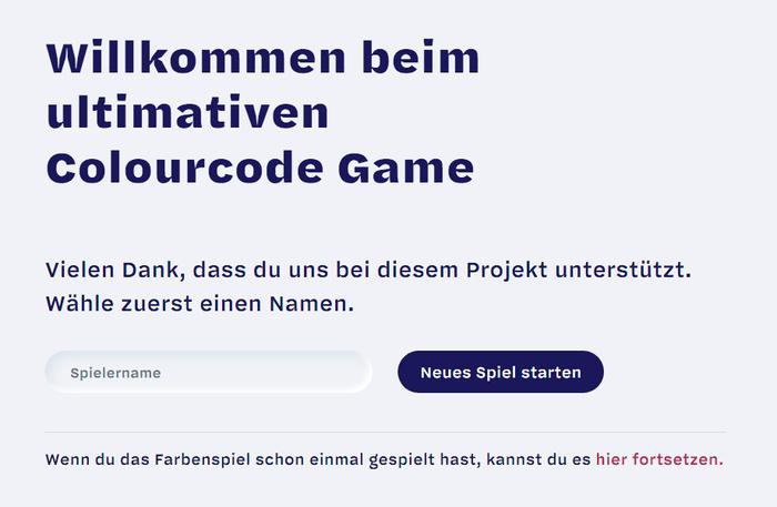 Colourcode Game 2