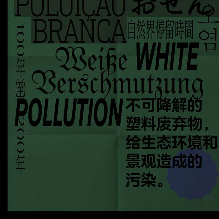 """White Pollution"" poster 4"