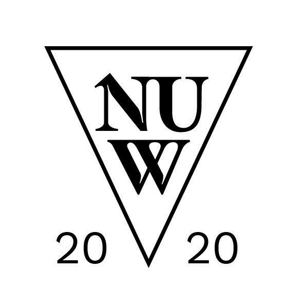 A black and white version of the NUW Store Logo when launched in 2020.