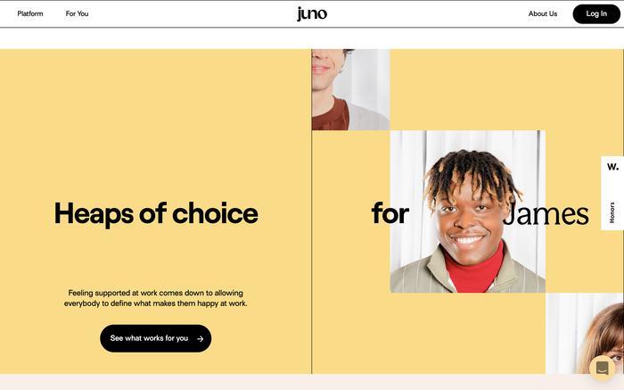 Juno website 3