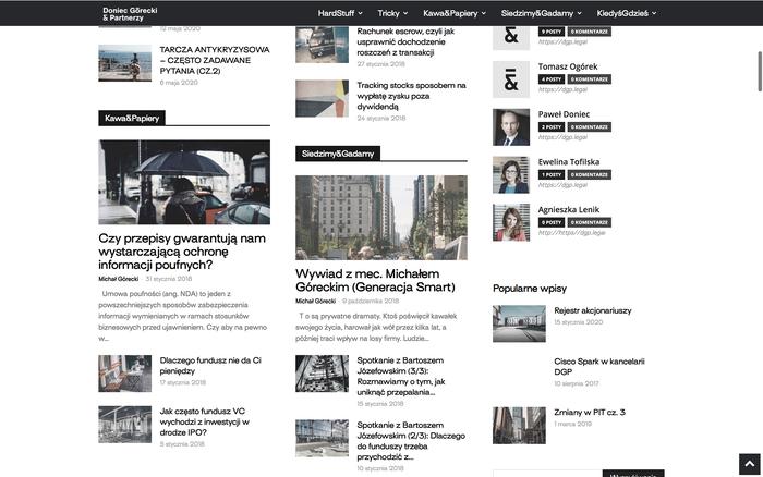 Doniec Górecki & Partnerzy website 2