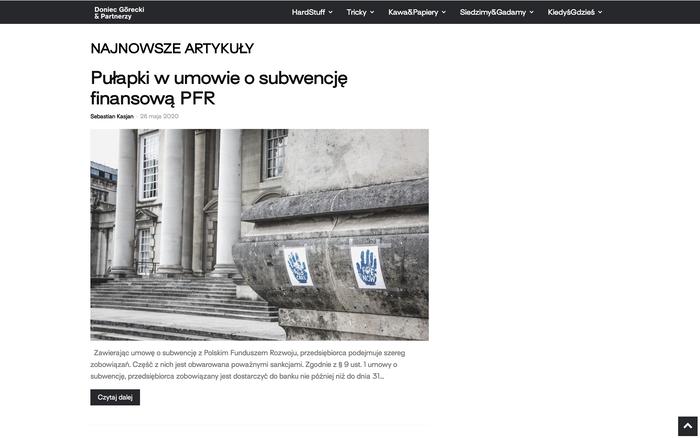 Doniec Górecki & Partnerzy website 3