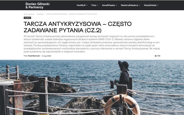 Doniec Górecki & Partnerzy website 1