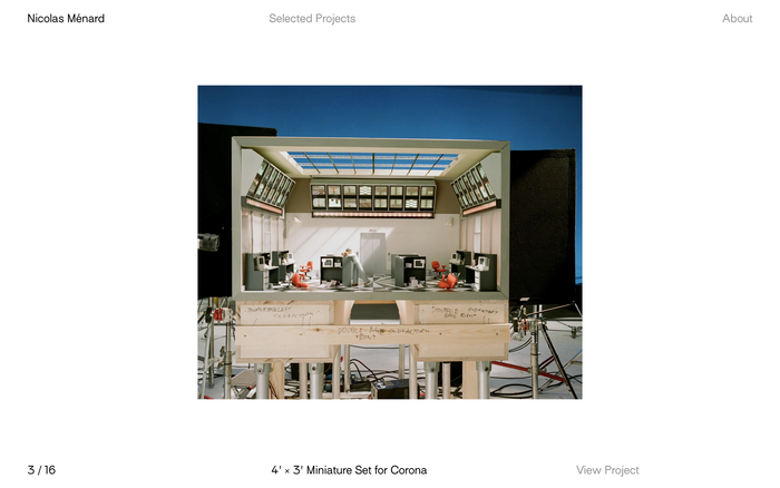 Nicolas Ménard portfolio website 2