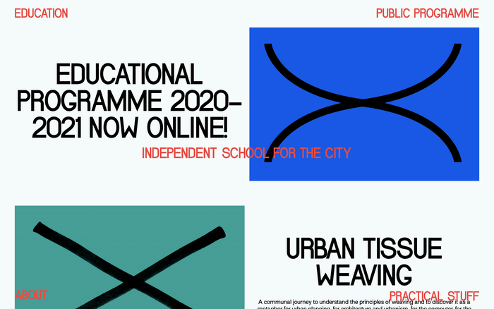 School for the City website 1