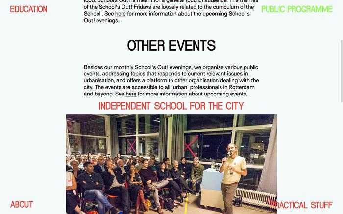 School for the City website 3